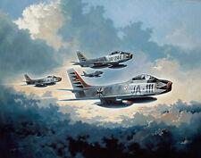 "Heinz Krebs F-86 Print ""Descendants of the Red Baron"""