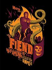 "MISFITS ""The Fiend Walks Among Us"" LTD VARIANT ED Screen Print Poster-TOM WHALEN"