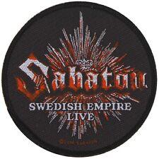 SABATON -  Swedish empire live Patch Aufnäher - 9x9cm
