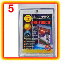 5 Ultra Pro ONE TOUCH MAGNETIC 75pt UV Card Holder Display Case Two Piece 81910