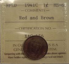 Canada Newfoundland 1941c Small Cent - ICCS MS-63