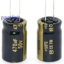 2x  470uF  50v  Panasonic FM  Audio Amplifier  Hi-Fi   , DAC  Computer capacitor