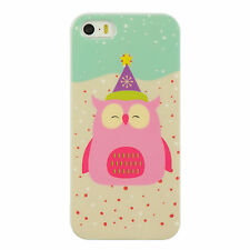For Apple iPhone 5 5S SE TPU CANDY Gel Flexi Skin Case Phone Cover Christmas Owl