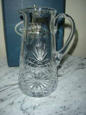 KRYSTOF CRYSTAL WITH GENIE ADVERTISING / AWARD PITCHER ~ MINT IN BOX ~ RARE
