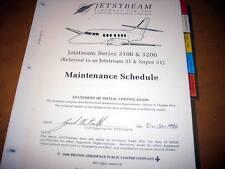 British Aerospace Jetstream 3100 & 3200 Maintenance Schedule Manual