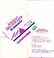 BIGLIETTO CONCERTO USATO - ANGELO BRANDUARDI - ROMA 18 DICEMBRE 1981