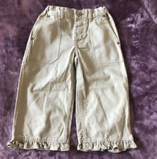 Kids Girls Summer Gap Brown Capri Trousers Jeans Kids Size 6 Years