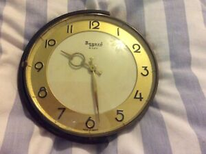 ART DECO BAYARD Desk Clock Eight Day Made In France Brass Works Winding French