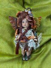 """Folletti Gnomi e Streghe Porcelain Doll Italian Fairy Collectible """"Primula"""" Look"""