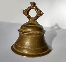 Ancienne petite cloche de cérémonie temple Inde 19e