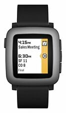 New Pebble Time Smartwatch - Black