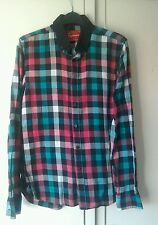 "Mens' Topman Long Sleeved Check Shirt Size ""S"" (36-38in)."