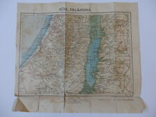PALESTINA Vecchia carta mappa Palestine antique map