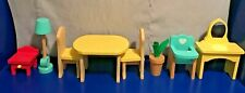Doll House Wood Furniture Fits Barbie and other size Dolls Toys Games
