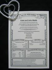 PERSONALISED 1st Paper Wedding Anniversary Present Gift SUPERFAST DELIVERY
