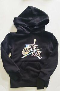 Nike Air Jordan Jumpman Little Boys Iridescent Pullover Hoodie Black Sz 6 - NWT