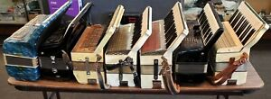 Lot of 6 Accordions For Parts or Restoration Untested