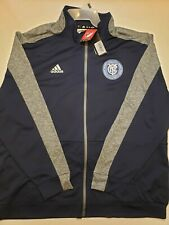 ADIDAS NEW YORK CITY FOOTBALL CLUB MLS SOCCER TRACK SUIT Full Zip JACKET XXL 2XL