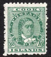 Cook Islands 1902 green 10d perf 11 NZ & Star close sideways mint SG35
