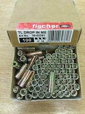 100 x Fischer TL Drop In / Internally Threaded Anchor M8 (Art No. 39-62381)