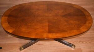 1980s Vintage Regency style American made Flame Mahogany coffee table