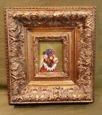 """Monkey Oil Painting 3.5"""" x 2.75"""" Framed 10 1/4"""" x 9 1/4"""""""