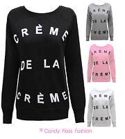 NEW LADIES WOMENS CRÈME DE LA CRÈME SWEATSHIRT JUMPER SIZES 8 - 14