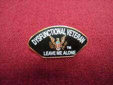 """Hat Pin """"Pow/Mia - Dysfunctional Veteran"""" genuine Cloisonne/Brass Pin #14537"""