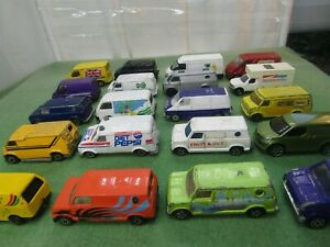 VINTAGE diecast vehicles FORD TRANSIT VAN matchbox corgi car 1/64 bundle JOB LOT