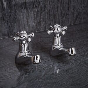 HIGH QUALITY BASIN  TAPS HIGH QUALITY WITH COMPRESSION VALVES VICTORIAN STYLE