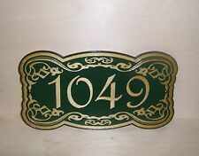 Personalized - SIGN - STREET ADDRESS - HOUSE NUMBER - WOOD - ENGRAVED - GIFT.