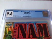 THE NAM 1 CGC 9.8 WHITE PAGES VIETNAM NEWSSTAND COPY VIET CONG MARVEL COMICS