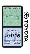 Porte vignette assurance TOYOTA double étui voiture Italien Stickers auto rétro