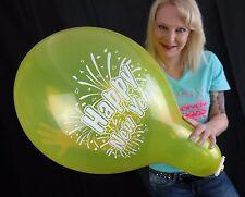 "3 x große TUFTEX 17"" Luftballons HAPPY NEW YEAR *SILVESTER*2017*TUF-TEX*"