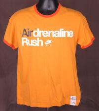 NIKE Airdrenaline Rush-Ringer T Shirt-Orange-XL-