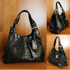 COACH MADISON Limited Edition MAGGIE EXOTIC Embossed CROC Hobo LEATHER HANDBAG
