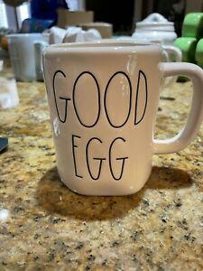 Rae Dunn - Good Egg Bad Egg LL - White Ceramic Two Sided Easter Coffee Mug