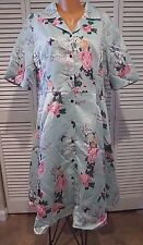 Respectfully Retro Midi Dress NWTD Satin Mint Green Floral Shirt Dress 3XL 2XL