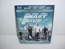 Fast Five Blu ray + DVD Movie No Digital