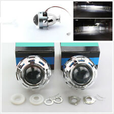 One Pair 3'' Headlights Retrofit HID Projector Lens+Shrouds Hi/Lo Beam H1 H4 H7