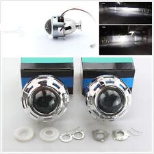 One Pair 3'' Headlights Retrofit HID Projector Lens+Shrouds Hi/Lo Beam H1 H4 H7