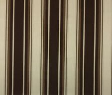 "SUNBRELLA MARSTON WALNUT BROWN WOVEN STRIPE OUTDOOR FABRIC BY THE YARD 54"" W"
