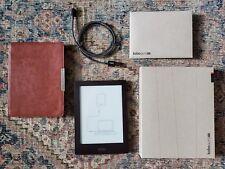 Kobo Aura HD 4GB e-reader Wi-Fi 6.8in Black Bundle Box Magnetic Case EXCELLENT