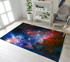 Abstract Space Stars Theme Area Rugs Kids Bedroom Carpet Living Room Floor Mat