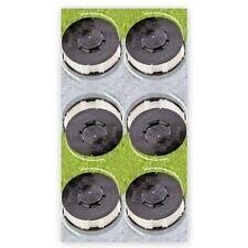 6 Ersatzfadenspulen für Rasentrimmer Aldi Gardenline Einhell KingCraft TopCraft