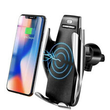Smart Sensor Auto Open / Lock Phone Holder Qi Wireless Charger Car Holder