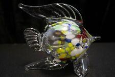 Murano Italian Art Glass - Sculpture Figure - PUFFER FISH with Inner Glass Rods