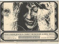 The Velvet Underground Postcard, Avalon Ballroom, Oct 18, 1968