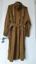Zara Camel Trench Coat Belted And Detachable Hood Size S Bnwt