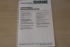 163375) Krone Drehpflug Mustang 100 120 140 180 - Verkaufsargumente - Prospekt 1